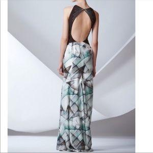 Carolina Herrera Digital Print Runway Gown 2014